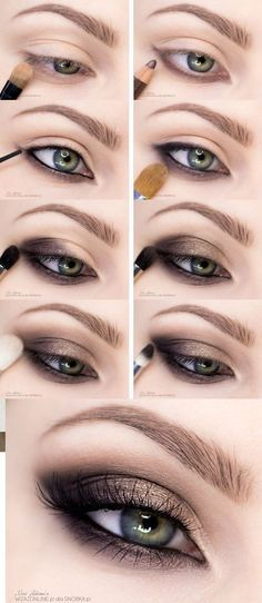 Step By Step Smokey Eye Makeup Tutorials...