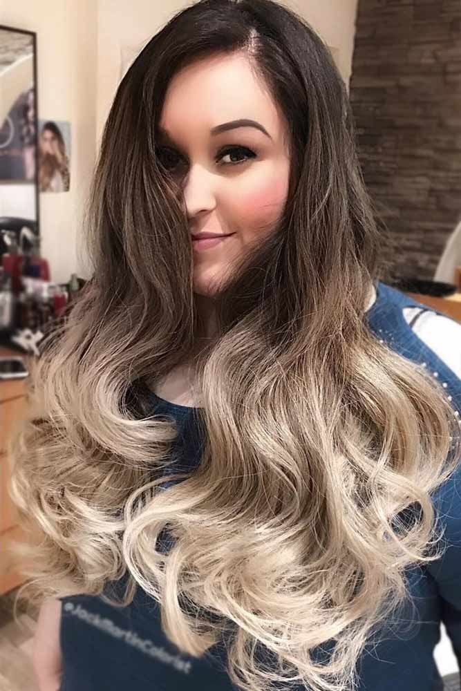 Blended Blonde Ombre On Dark Hair  ❤️ Upgrade your plain brown hair color wi...