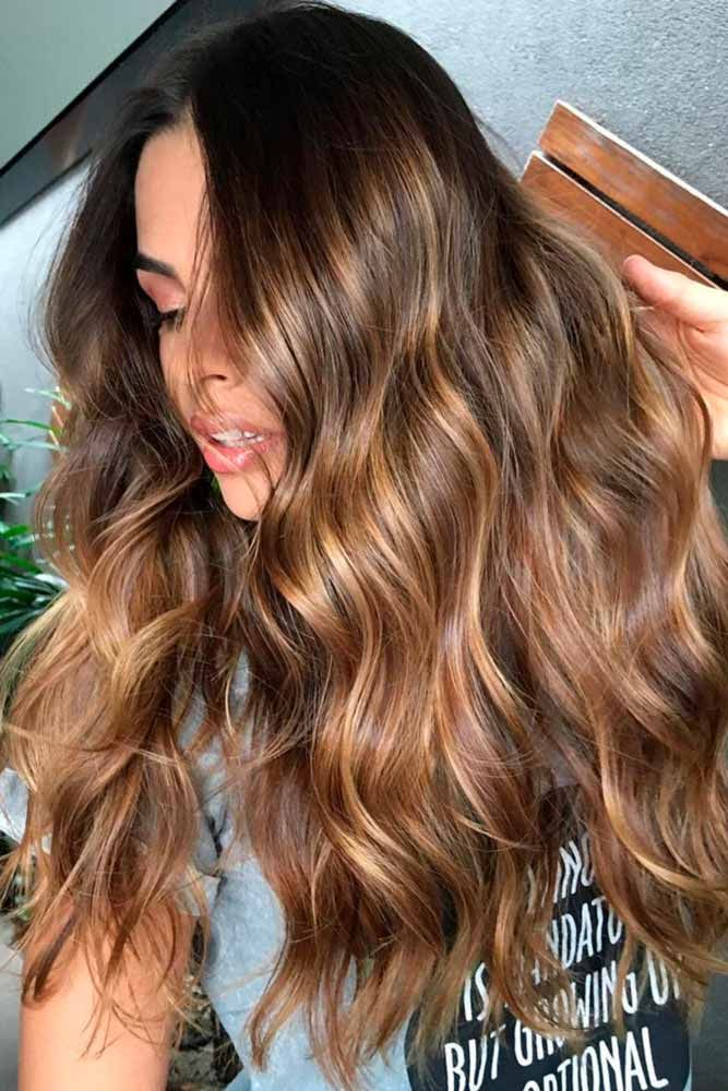 Flattering Style Options for Brown Hair with Highlights ★ See more: lovehairst...