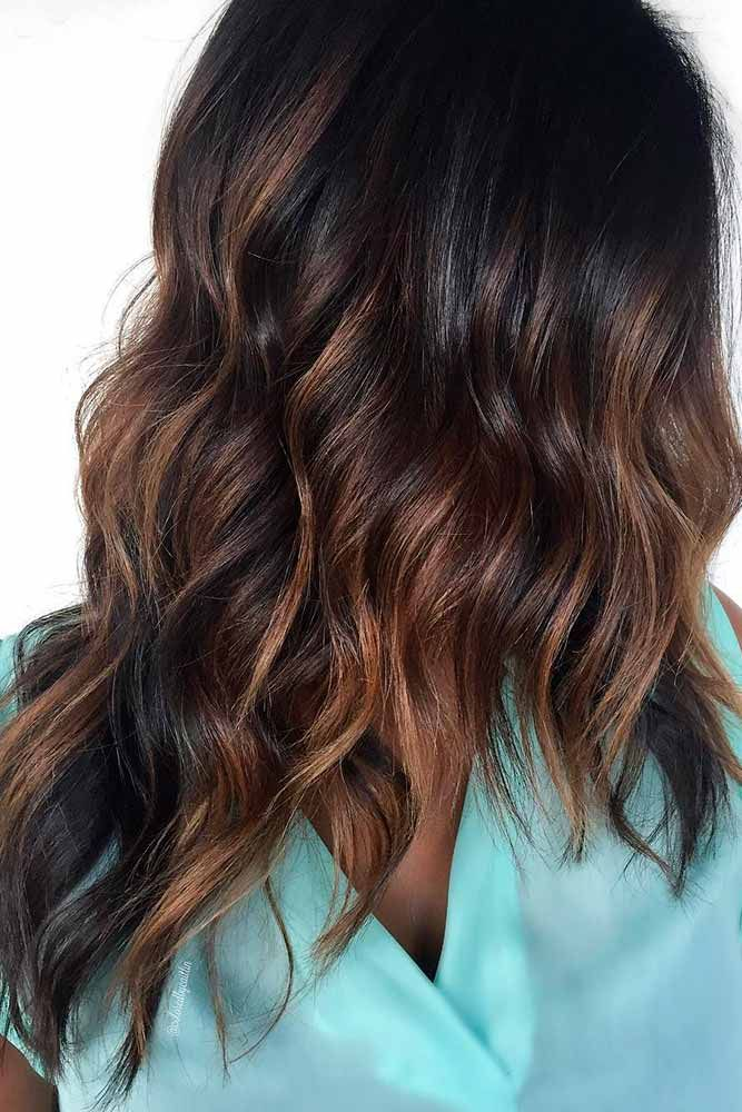 Highlights for Dark Brown Hair Color Tiger Eye: 15 Stunning New Ideas ❤ Middle...