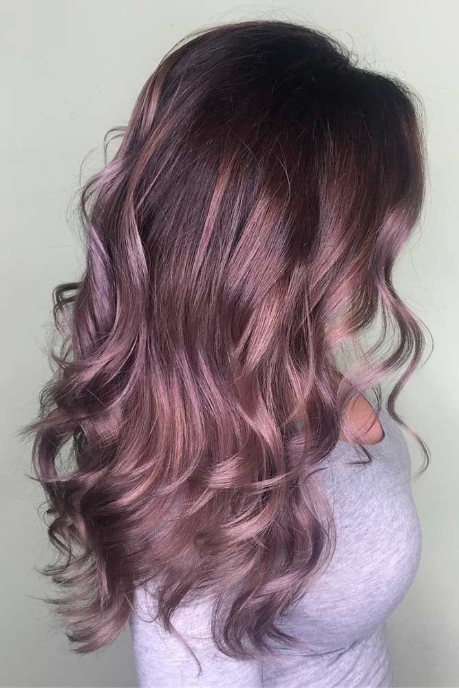 Chocolate lilac hair: how miraculous it looks, don't you think? This new hair ...