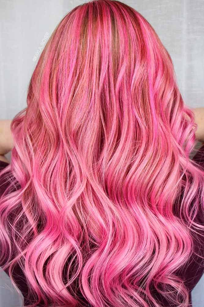 Pink hair is super-trendy and totally awesome! Not quite sure you can pull it of...