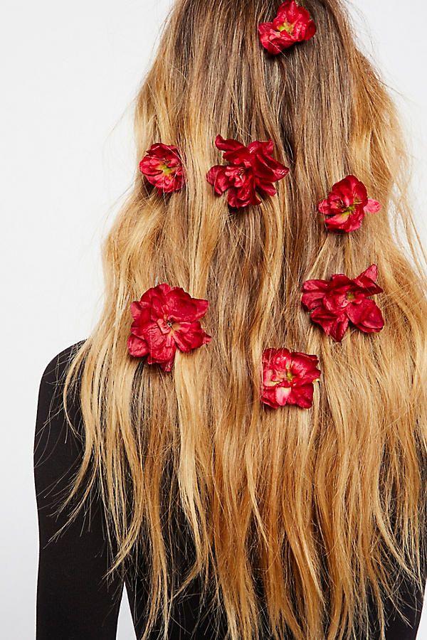 flower hair pins...