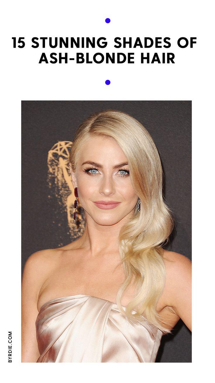 Gorgeous shades of ash-blonde hair...