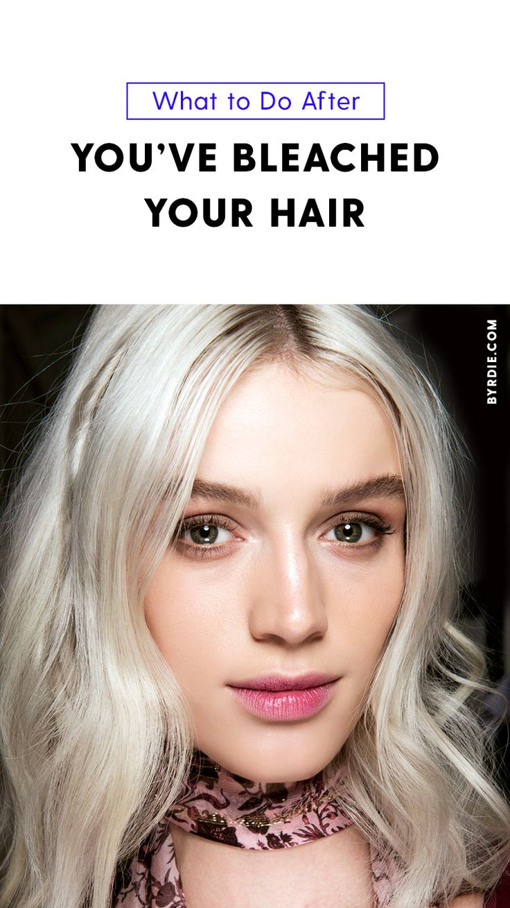 How to savage bleached hair...