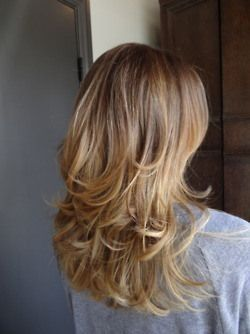 Mid shaft layers gives your style a bounce. This looks best on someone with thic...