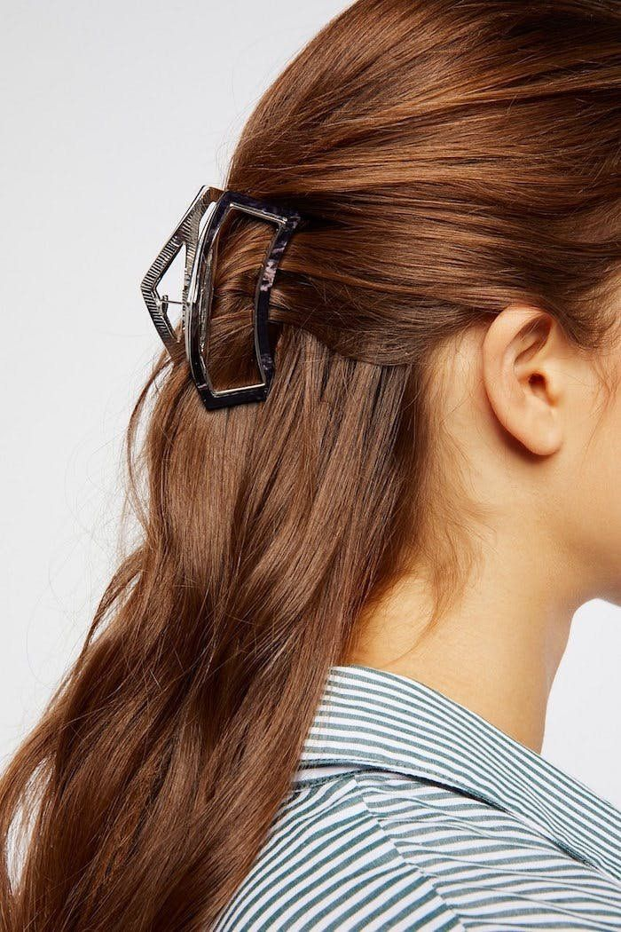The claw hair clip can *magically* hide that greasy second-day hair....