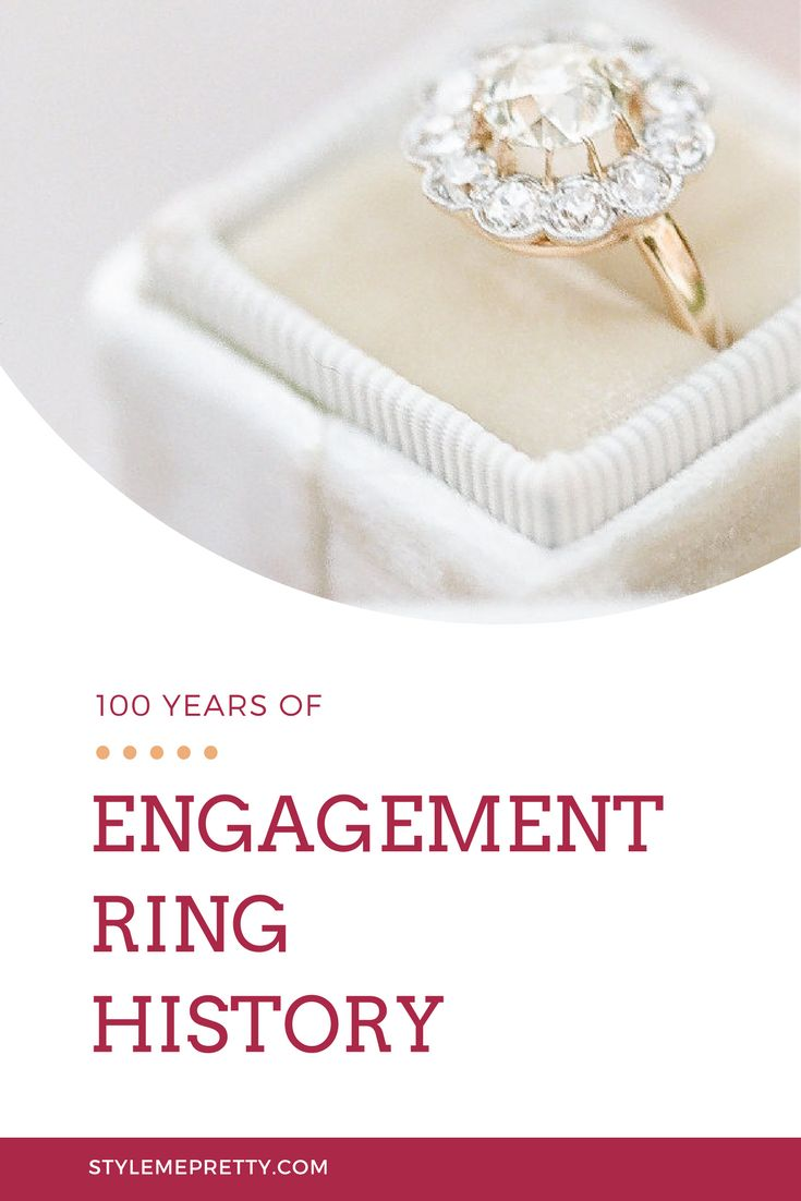 100 years of engagement ring history | Photography: J. Layne...