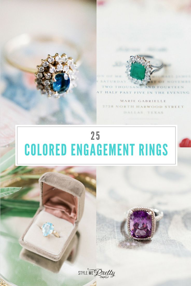 25 colored engagement rings to covet!...