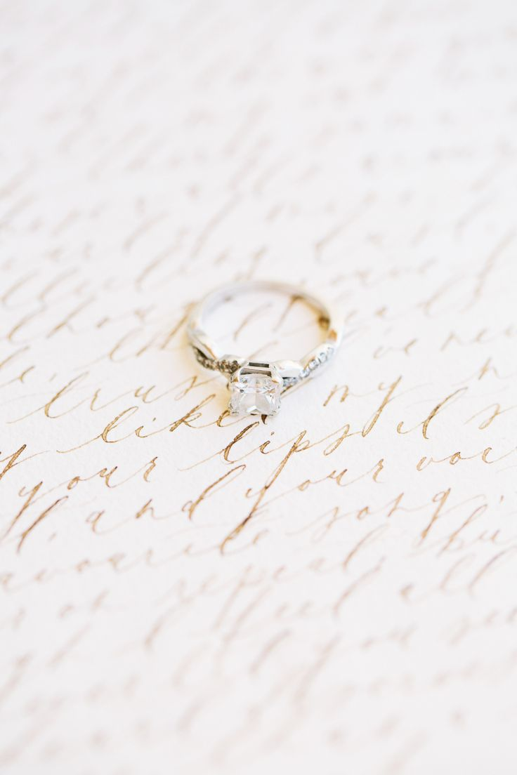 Beautiful gold band engagement ring: Photography: D'arcy Benincosa - www.beninco...