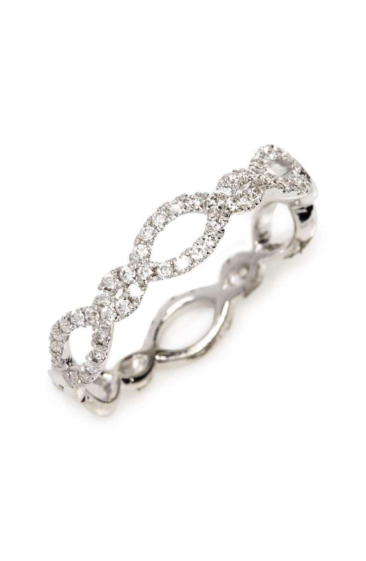 Bony Levy Stackable Weave Diamond Ring...