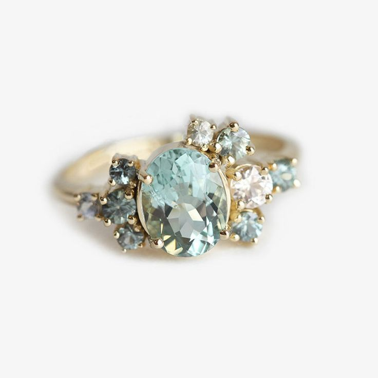 Capucine Gemstone Cluster Ring...