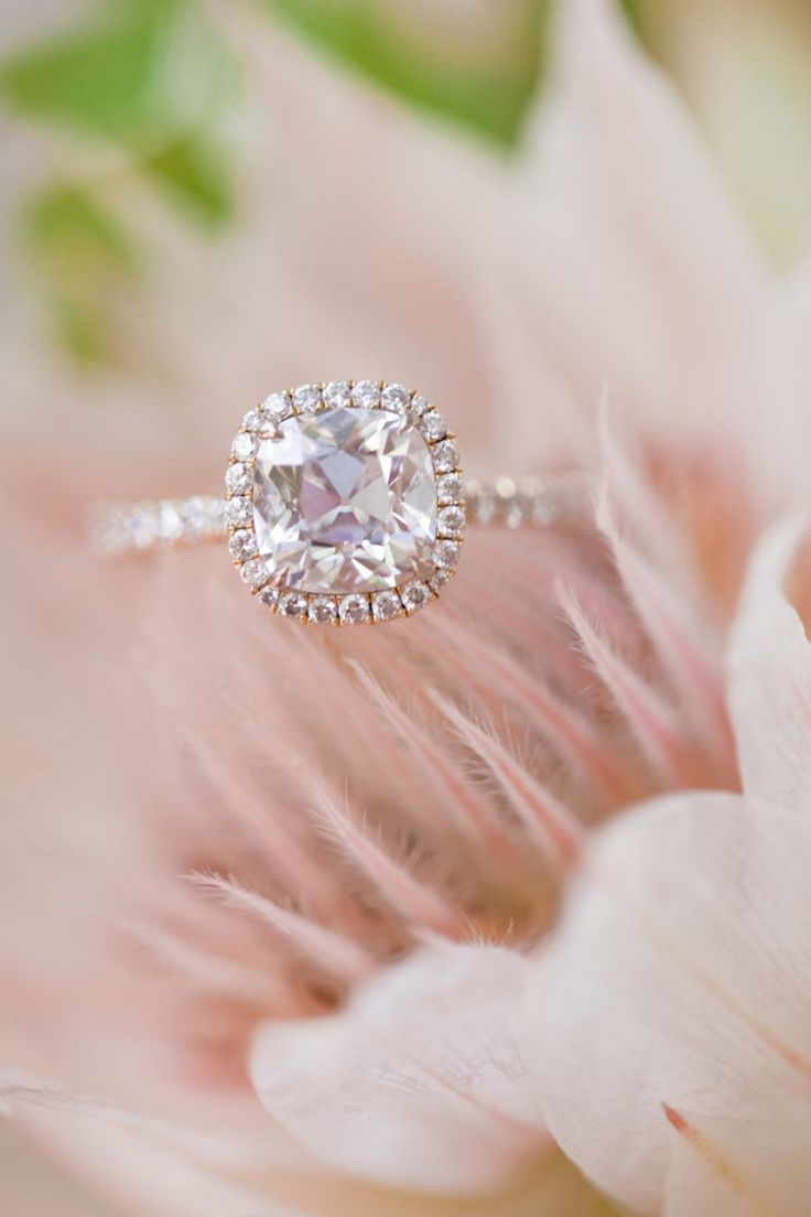 Circle-cut engagement ring: Photography: Christine Chang...
