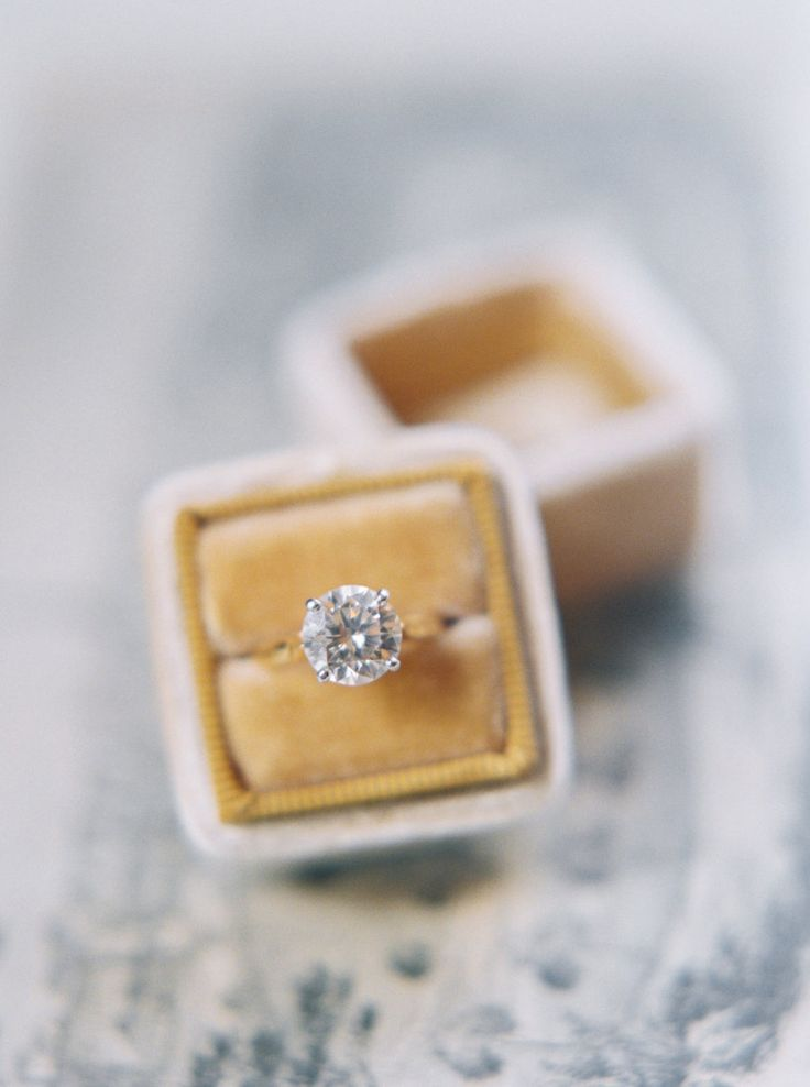 Circle-cut engagement ring: Photography: Perry Vaile - perryvaile.com/...