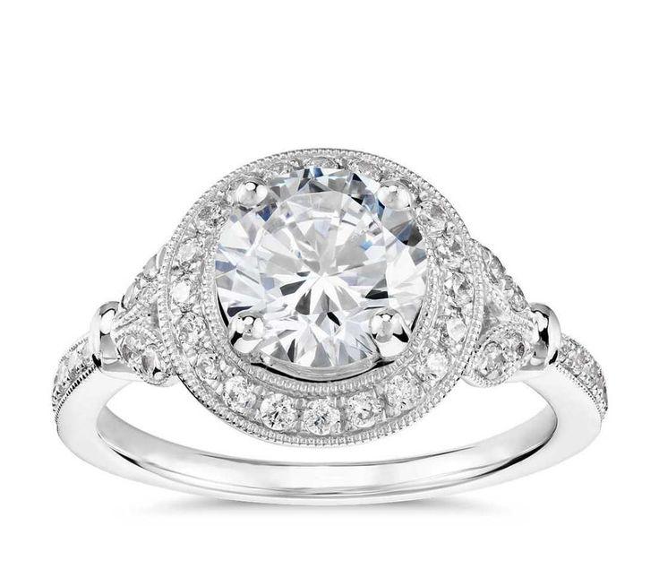 Circle-cut engagement ring...