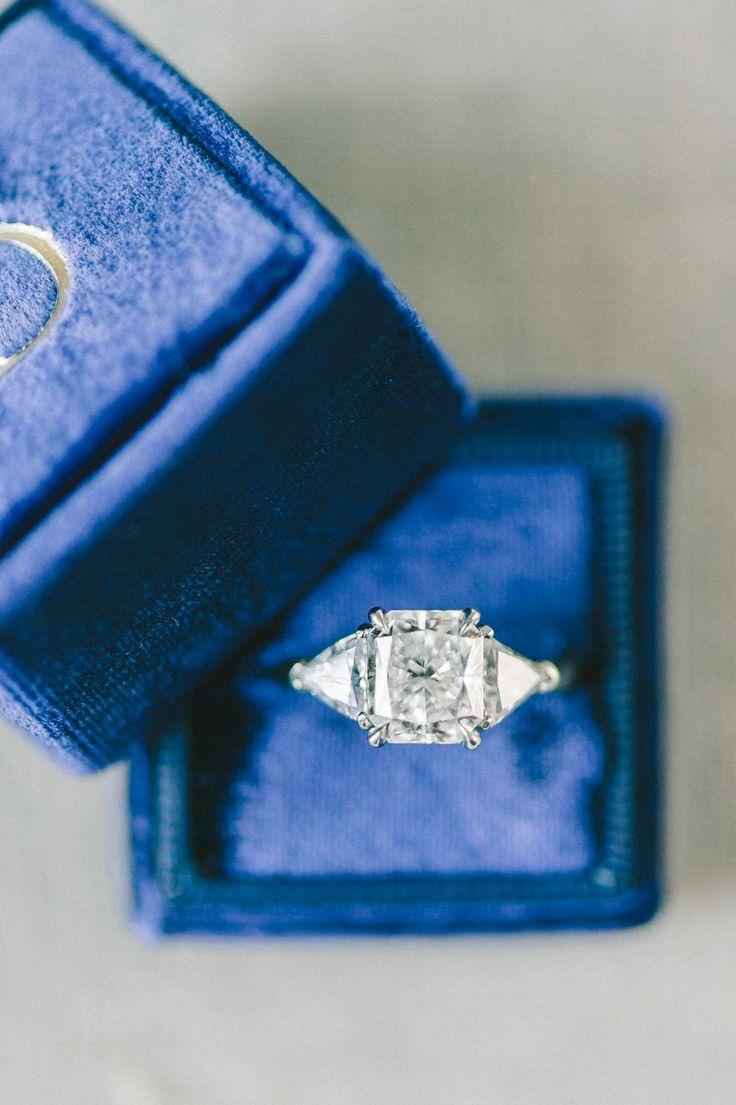 Cushion-cut engagement ring | Photography: Elizabeth Fogarty...