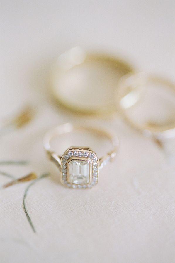 Cushion-cut engagement ring: Photography: Lacie Hansen - laciehansen.com/...