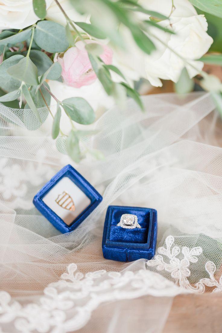 Cushion-cut engagement ring: Photography: Something Blue - somethingbluenj.com/...