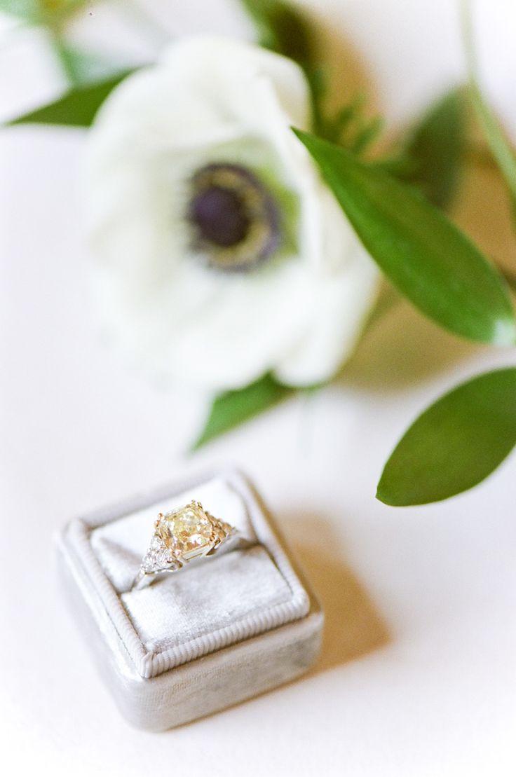 Cushion-cut engagement ring | Photography: Tamara Gruner...