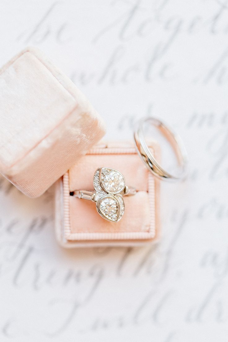 Double diamond engagement ring | Photography: Emily Wren...