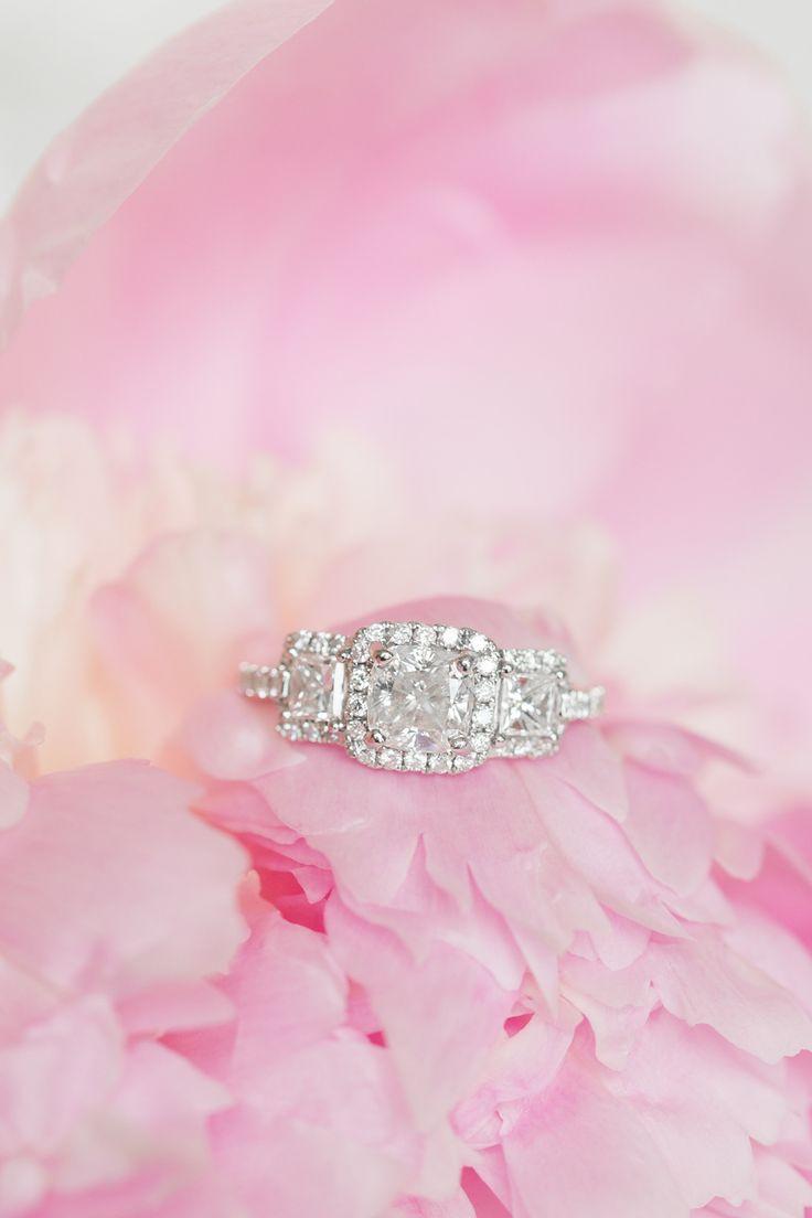 Elegant cushion-cut engagement ring | Photography: Amalie Orrange...