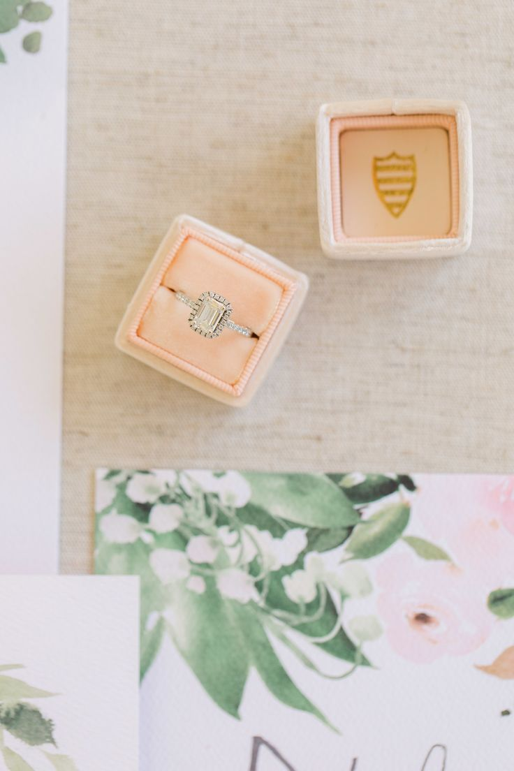 Elegant emerald-cut engagement ring | Photography: Jenny Quicksall...