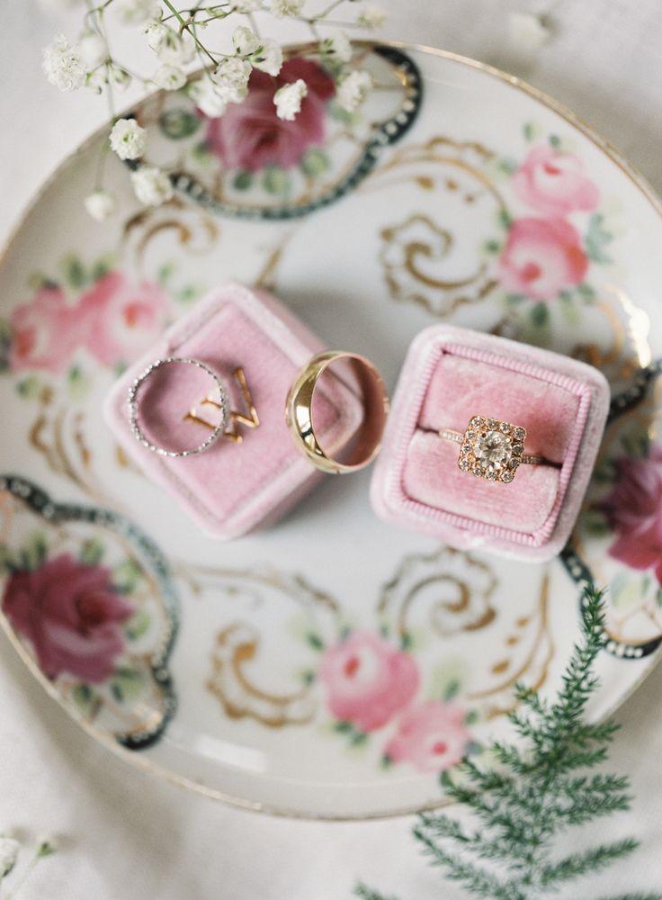 Elegant gold halo setting engagement ring: Photography: Brett Heidebrecht Photog...