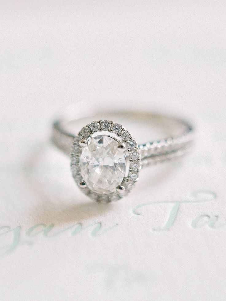 Elegant oval-cut engagement ring  | Photography: Amy Arrington...