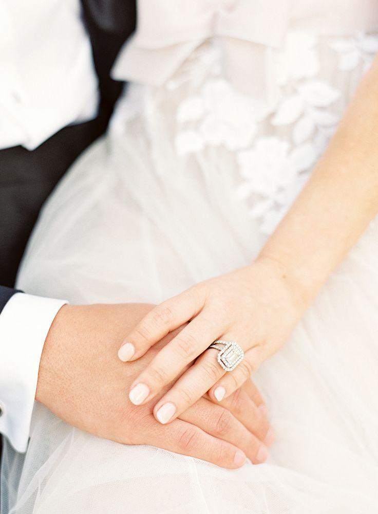Emerald-cut engagement ring: Photography: Lauren Peele - www.laurenpeeleph......