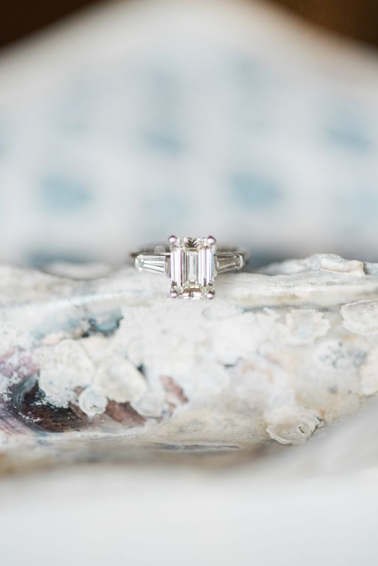 Emerald-cut engagement ring | Photography: Marni Rothschild...