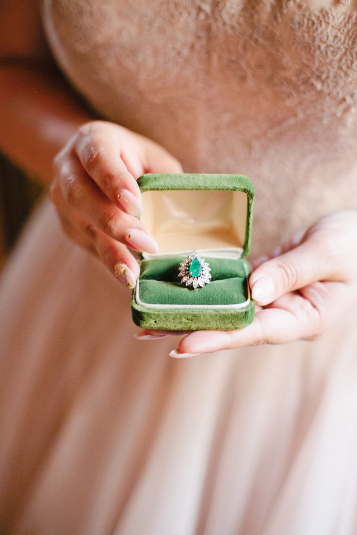 Emerald engagement rings that will make you green with envy! | Photography: Mega...