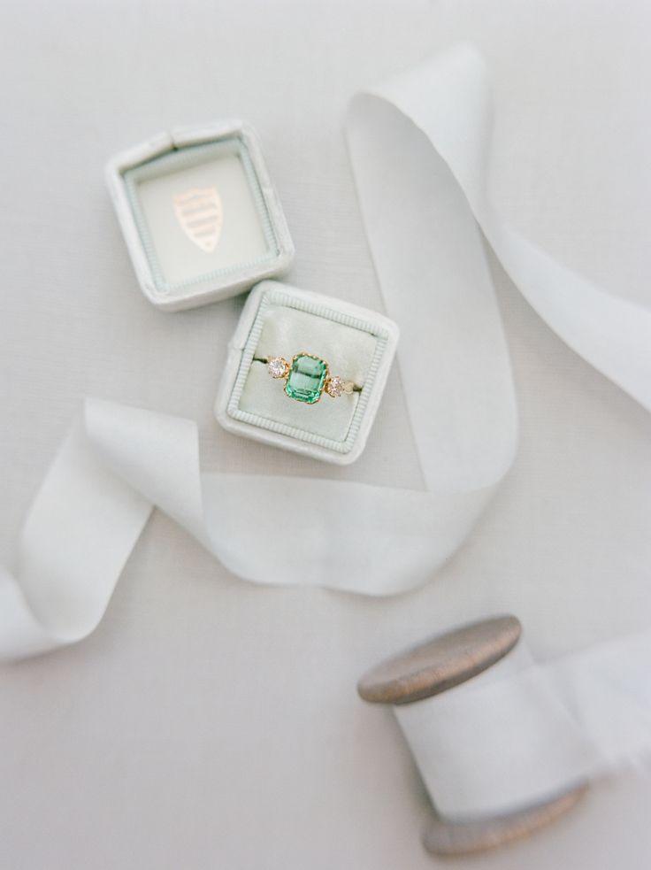 Emerald vintage engagement ring: Photography: Dana Fernandez - www.danafernandez...