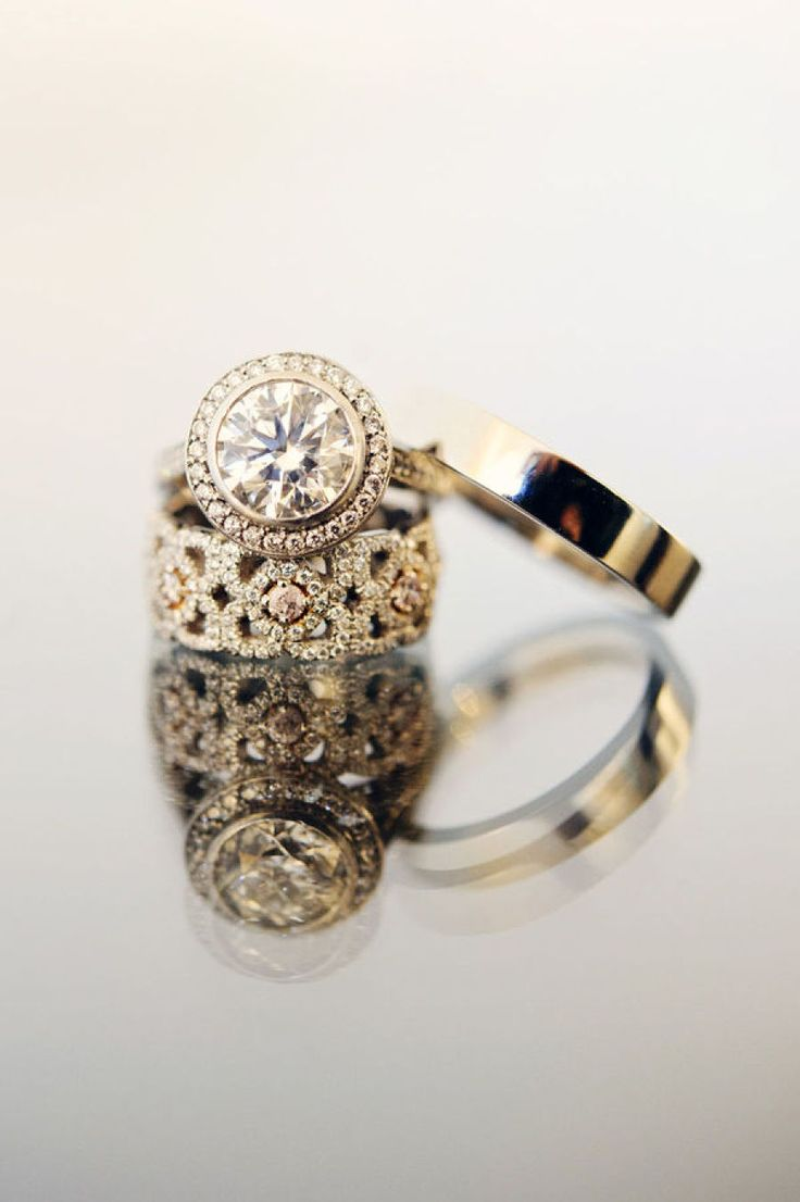Gold circle-cut engagement ring: Photography: Michelle Turner - www.michelleturn...