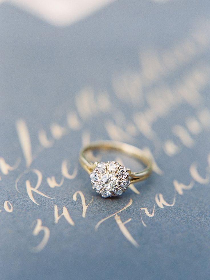 Halo set engagement ring | Photography: Sweetlife...