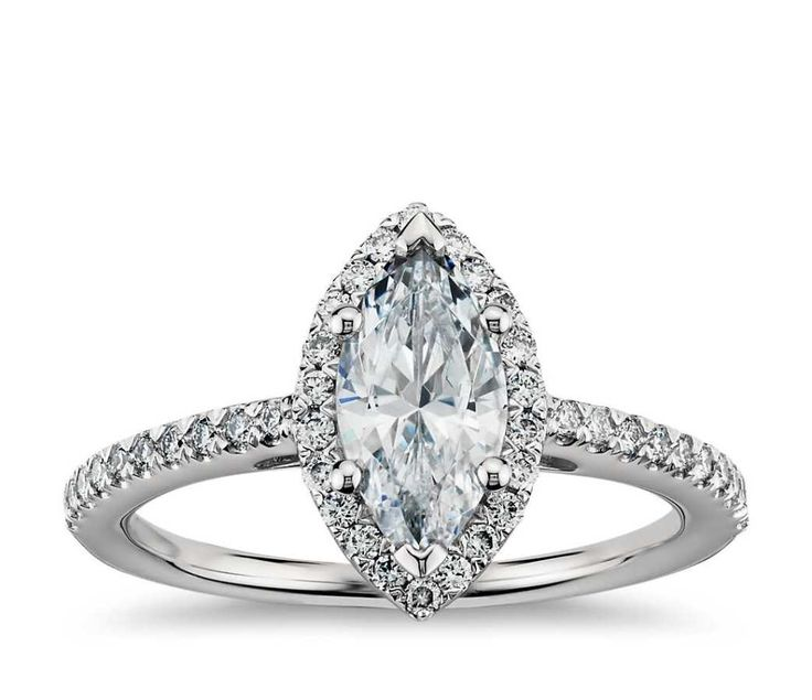 Marquise-cut engagement ring:...