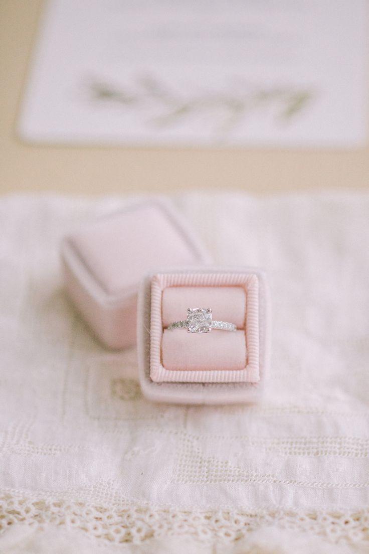 Princes-cut engagement ring | Photography: Tim Tab Studios...