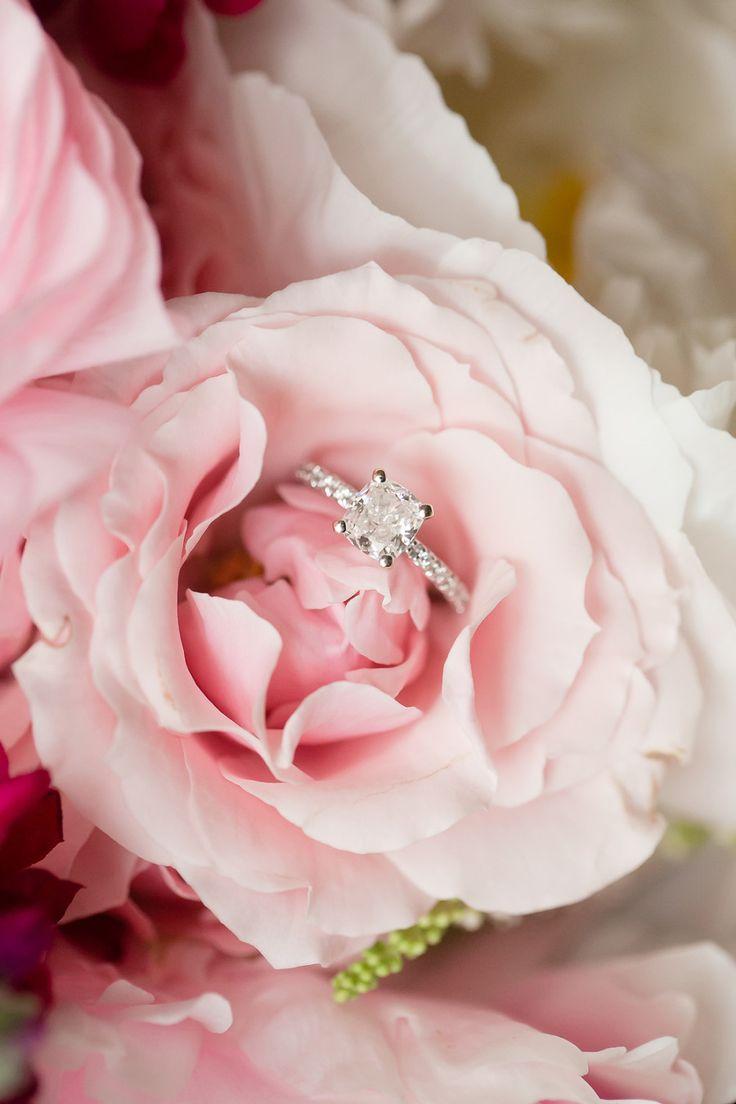 Princess-cut engagement ring: Photography: Ashley Bartoletti - ashleybartoletti....