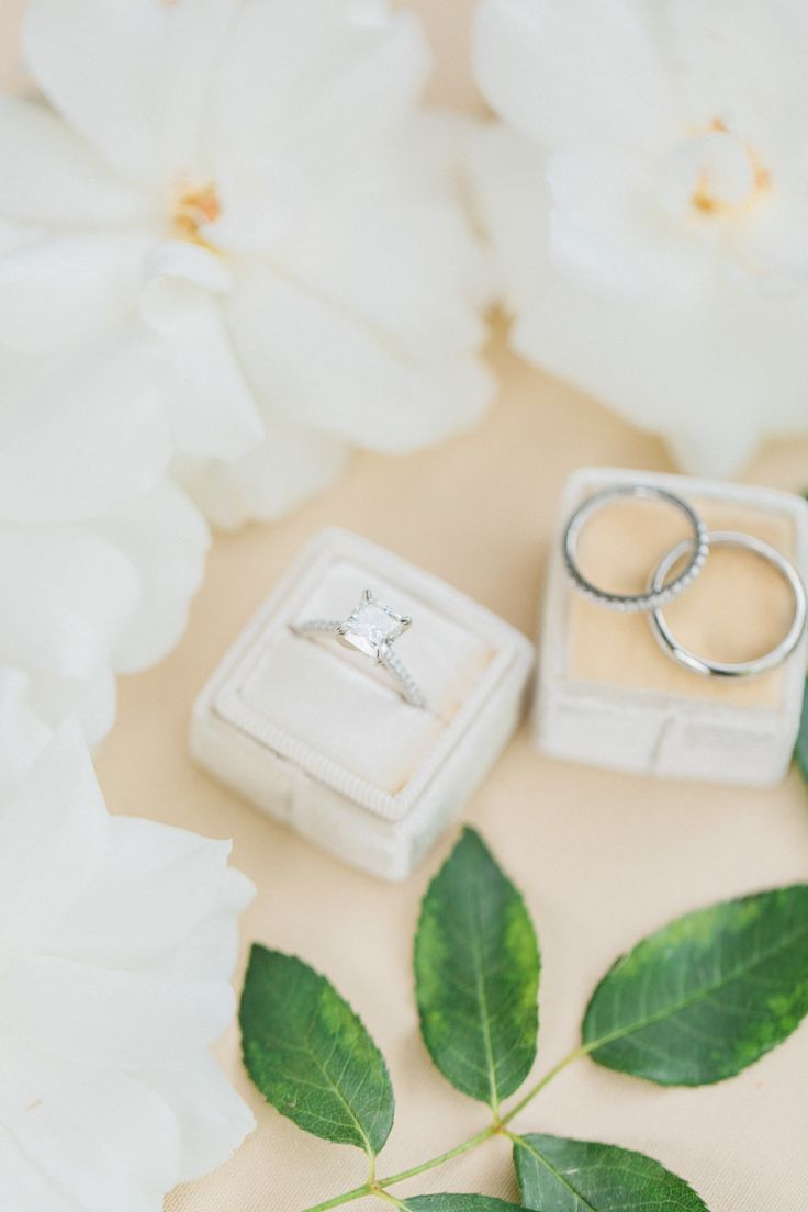 Princess-cut engagement ring: Photography: Susie and Will - www.susieandwill.......