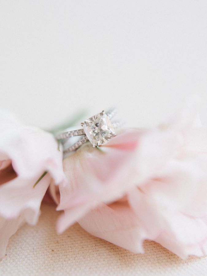 Princess-cut engagement ring: Photography: Tenth and Grace - www.tenthandgrace.....