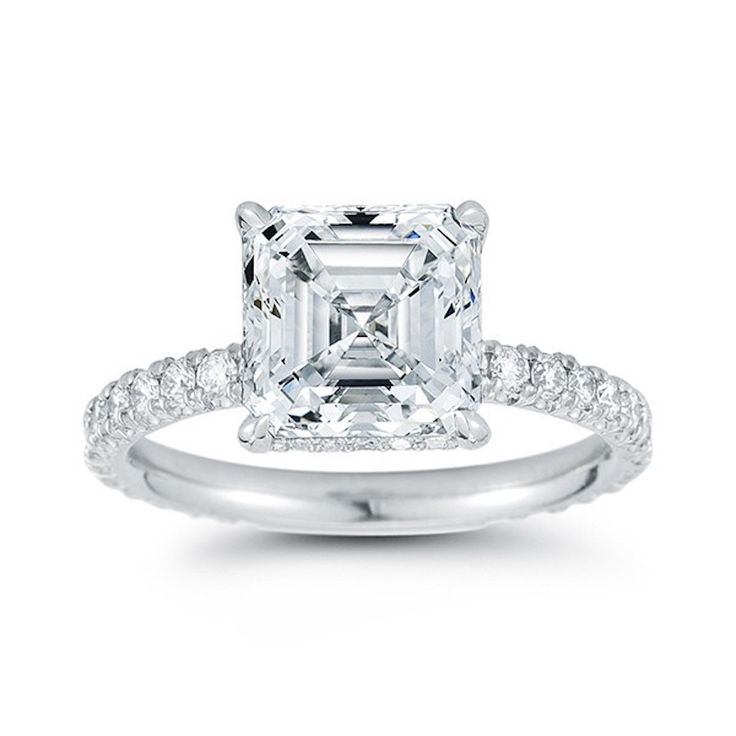 Princess-cut engagement ring...