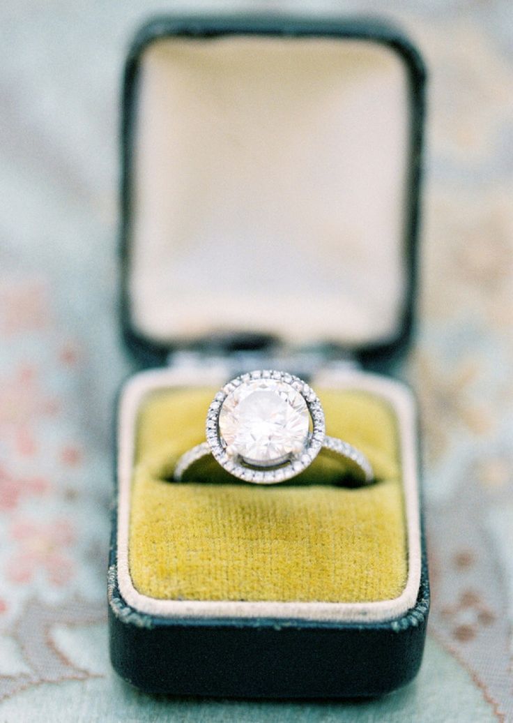 Round-cut diamond ring: Photography: Jose Villa...