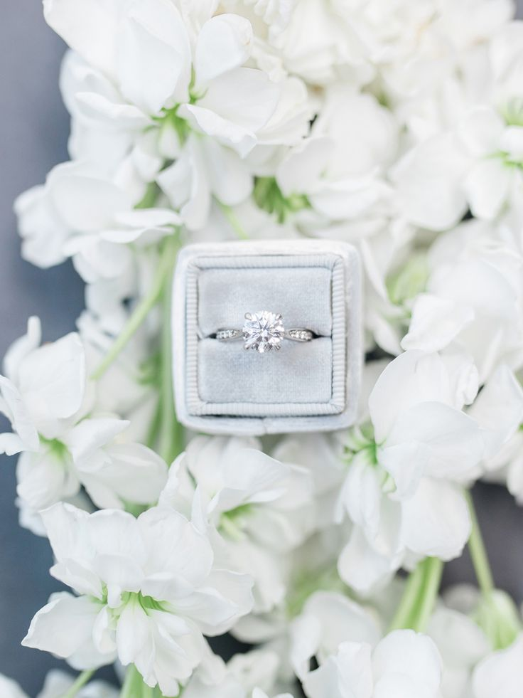 Round-cut engagement ring: Photography: Rachael McCall - www.rachaelmccall... As...