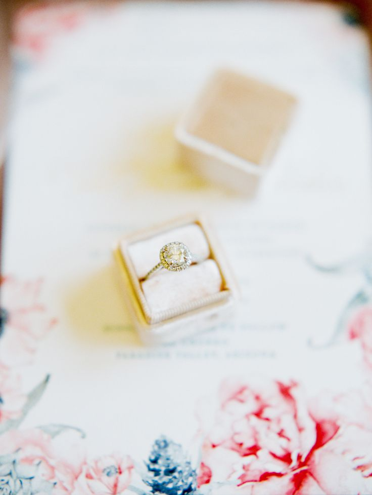 Round-cut engagement ring | Photography: Rachel Solomon...