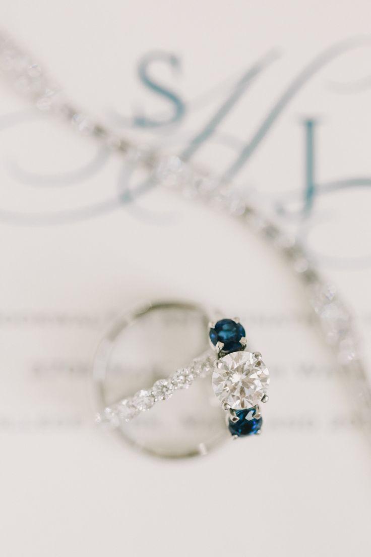 Three diamond engagement ring | Photography: Meredith Sledge...