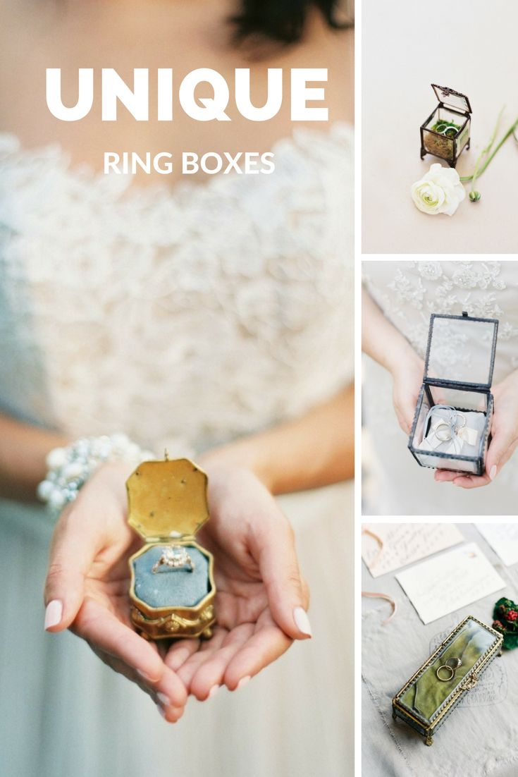 Unique ring boxes to showcase your sparkler!...
