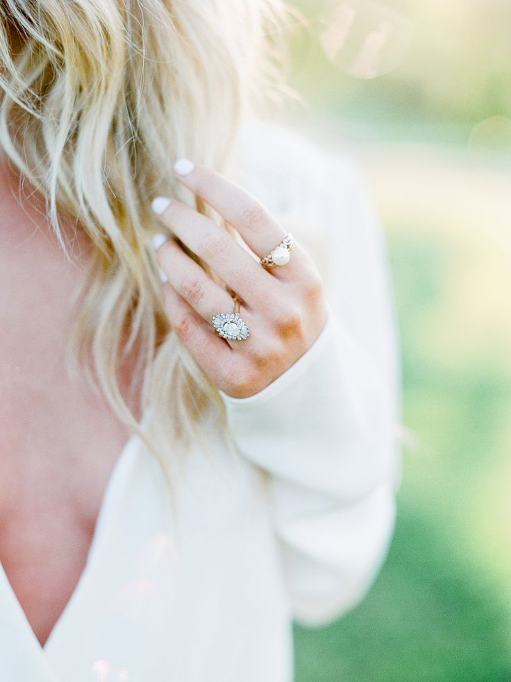 Vintage engagement ring: Photography: Julie Paisley - juliepaisley.com/...