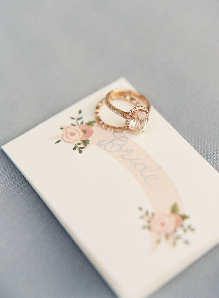 Unique rose gold halo engagement ring for the bold bride: www.stylemepretty...