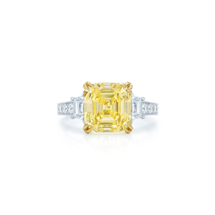 Yellow stone engagement ring:...