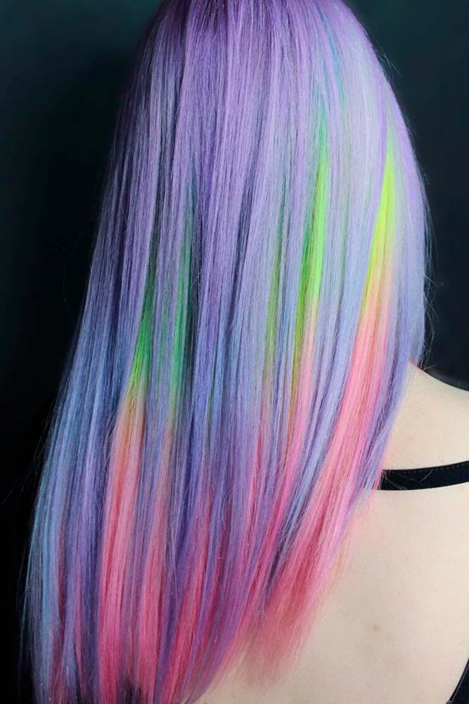 Are you searching for cotton candy hair ideas? This bold and bright look is for ...