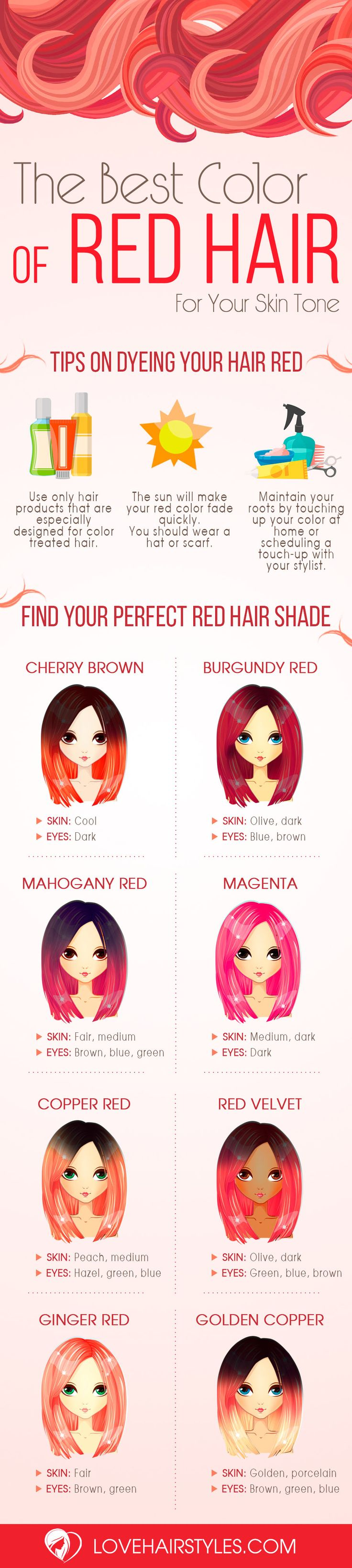 How To Choose The Best Color of Red Hair For Your Skin Tone ★ See more: loveha...